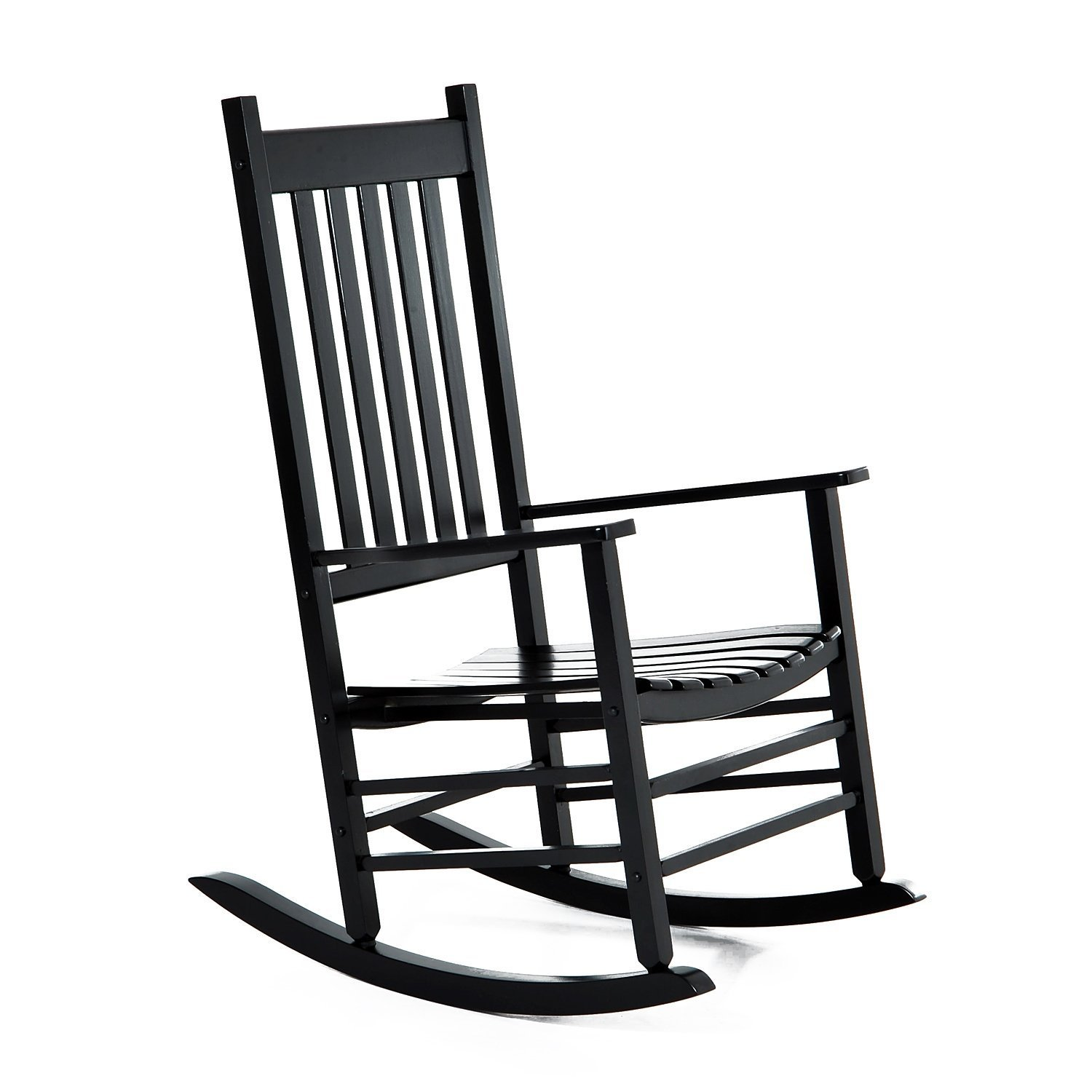 Outsunny Porch Rocking Chair - Outdoor Patio Wooden Rocker - Black by Outsunny (Image #1)