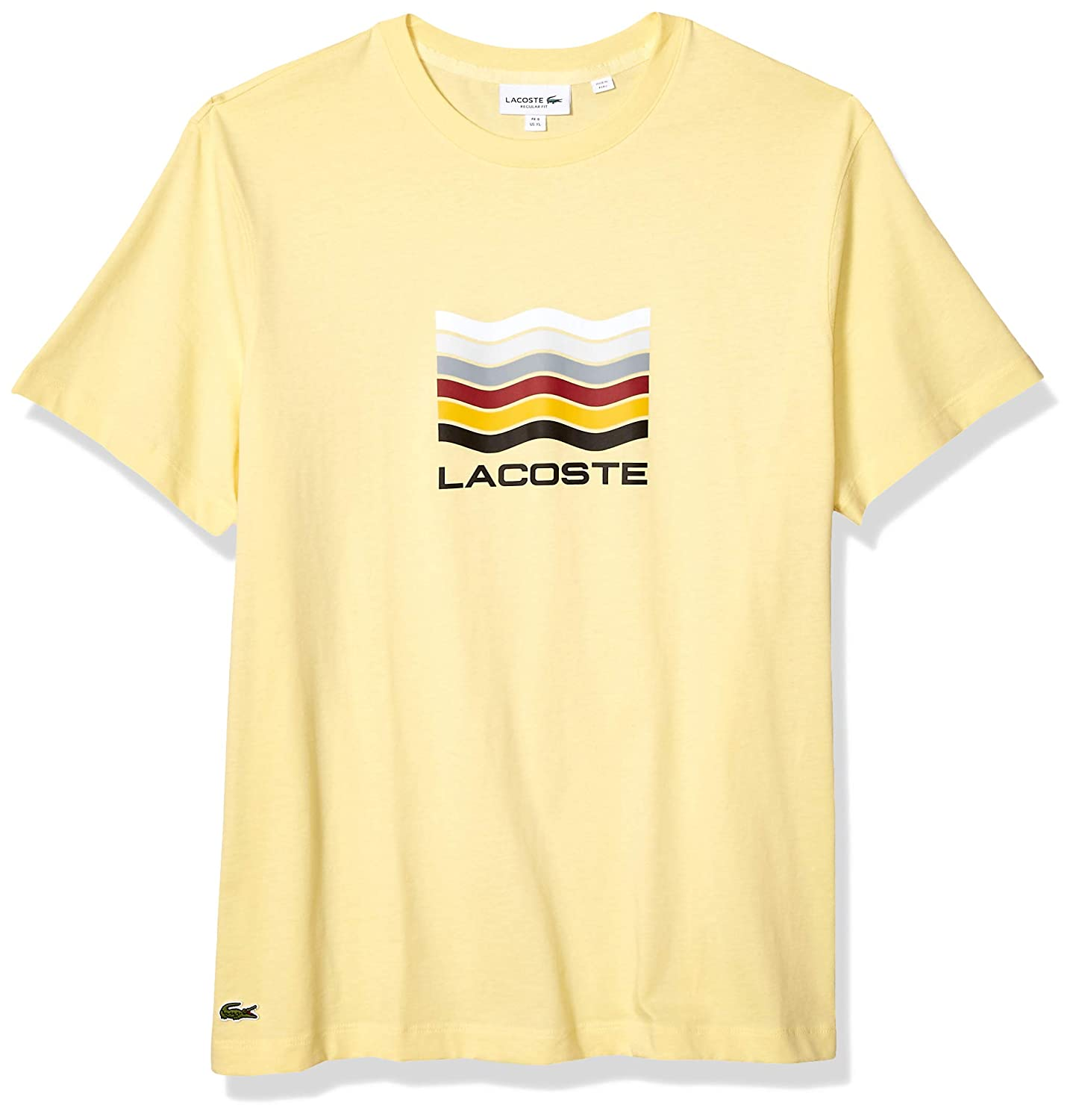 Lacoste Mens S//S Jersey Graphic T-Shirt