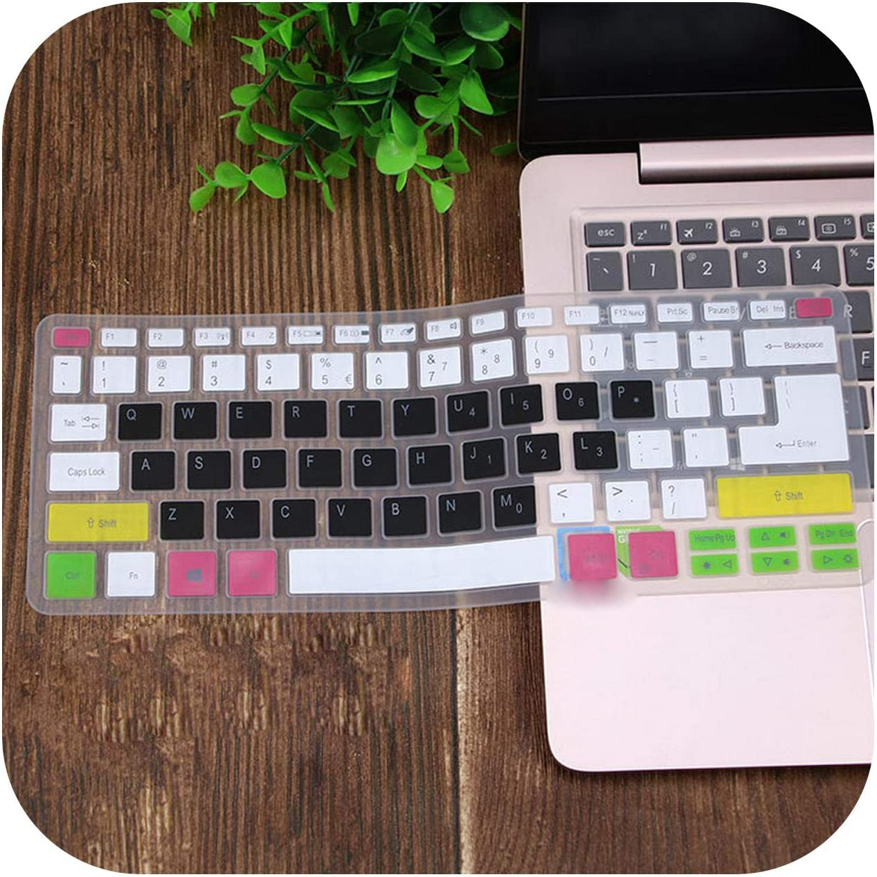 Silicone Keyboard Cover Skin Protector Guard for Acer Swift 3 Sf314-52 Sf314-54 / Swift 1 Sf114-32 14 Inch I5 8250U Notebook-Color 1-