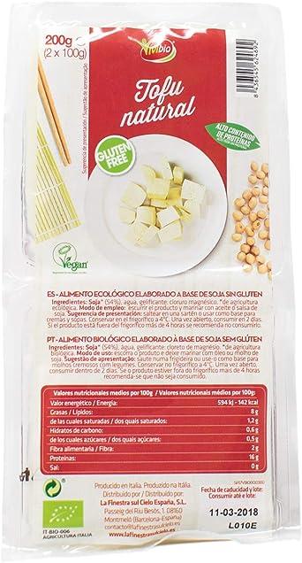 Vivibio Tofu Natural sin Gluten, 200g: Amazon.es ...