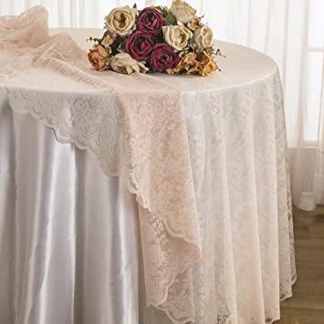 Amazon Wedding Linens Inc 108 Inch Lace Table Overlays Lace