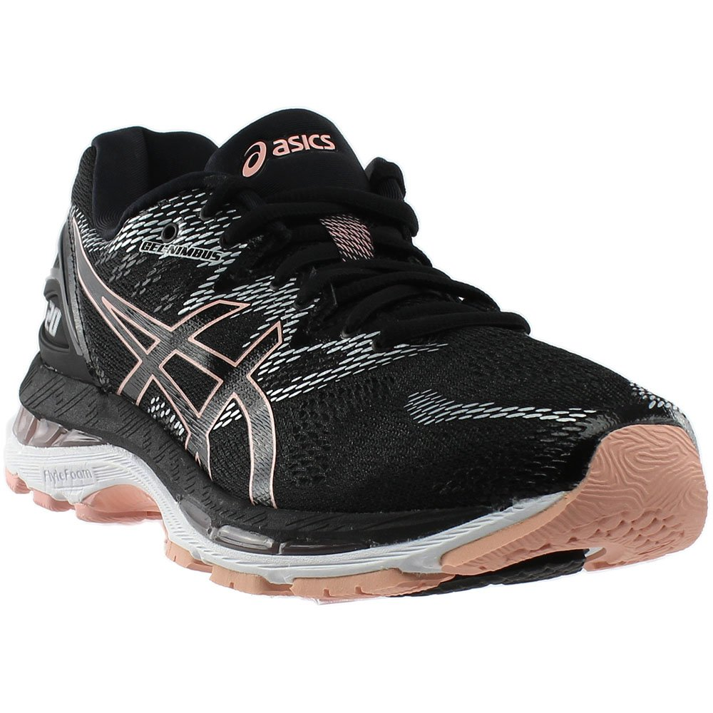 ASICS Women's Gel-Nimbus 20 Running Shoe B077QN3XWV 9.5 B(M) US|Black/Frosted Rose