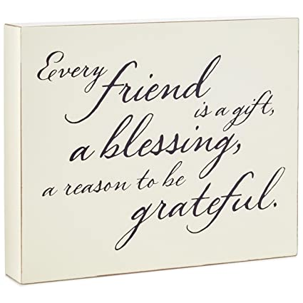Amazon.com: Hallmark Friends are a Blessing Wood Quote Sign ...