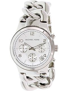 b819736c93b8 Michael Kors MK3149 Women s Runway Chronograph Twist Chain Steel Bracelet  Watch