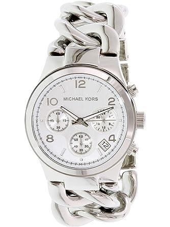 f1b6a5c13d74 Amazon.com  Michael Kors MK3149 Women s Runway Chronograph Twist Chain  Steel Bracelet Watch  Michael Kors  Watches