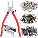 "Swpeet 36 Sets 1"" 25mm 3 Colors Key Fob Hardware with 1Pcs Key Fob Pliers, Glass Running Pliers Tools with Curved Jaws…"