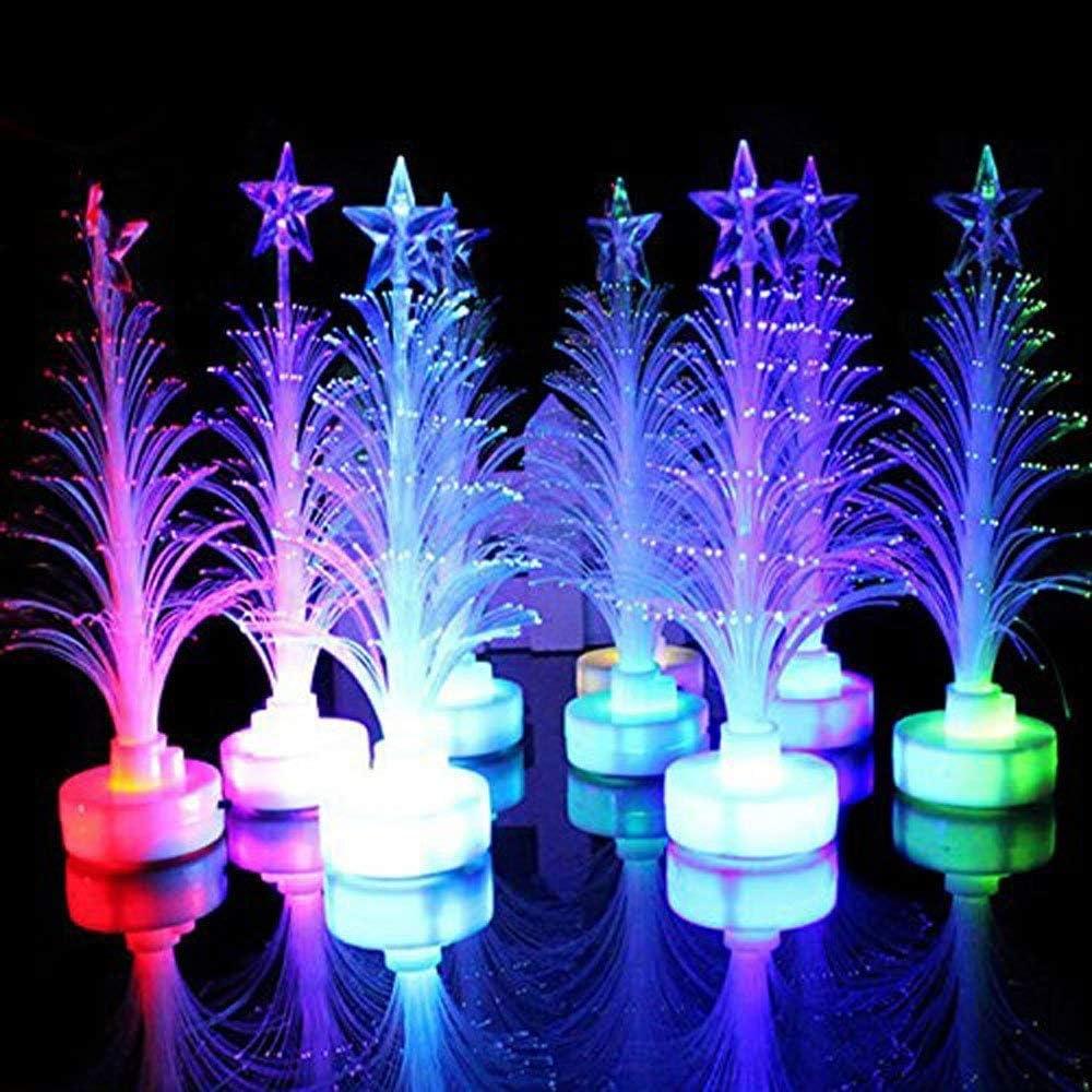 Toyvian 1 Set Multicolore Fibre Optique Sapin De No/ël avec Stand Home Party No/ël D/écoration De No/ël Cadeau