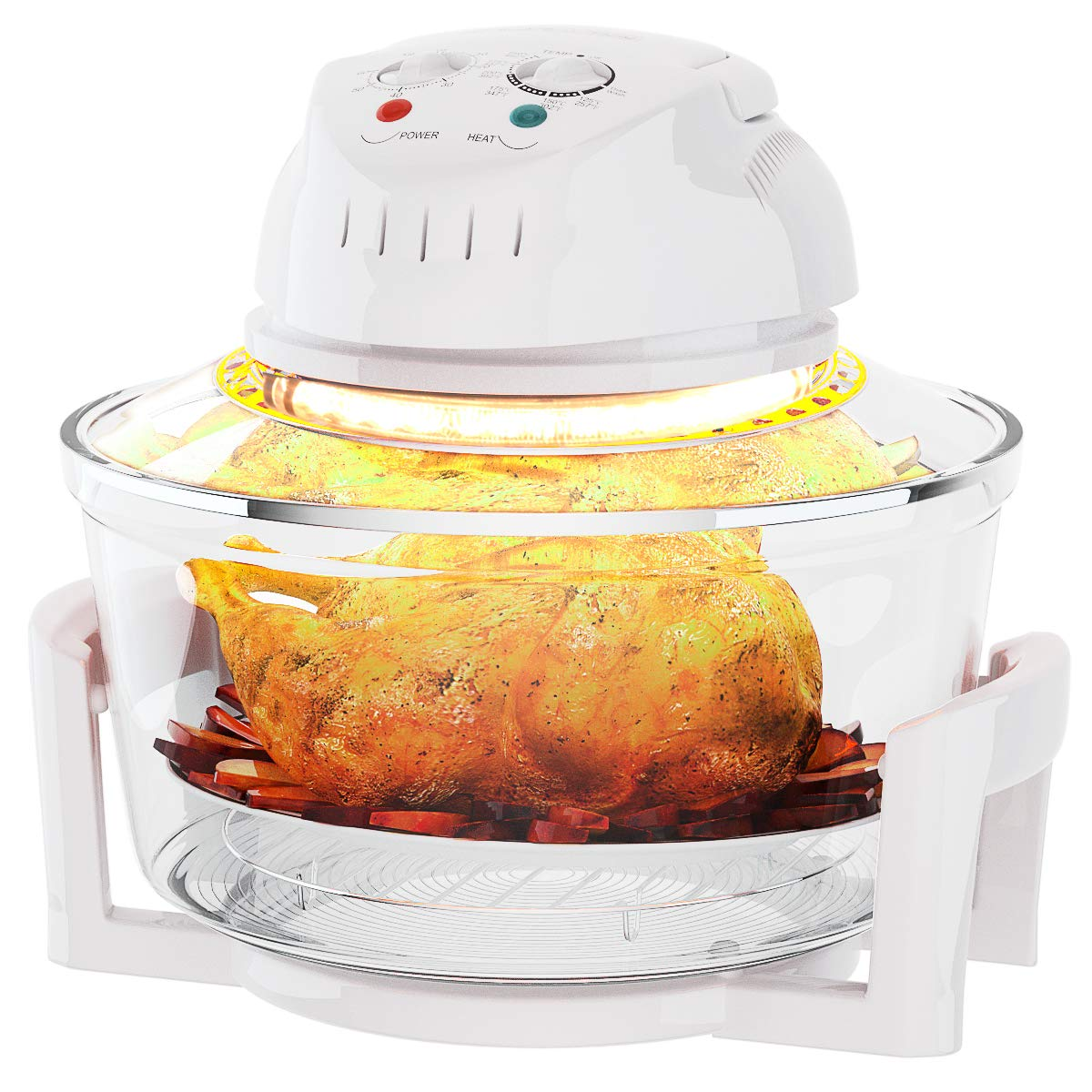 COSTWAY Infrared Halogen Convection Oven with Stainless Steel Extender Ring