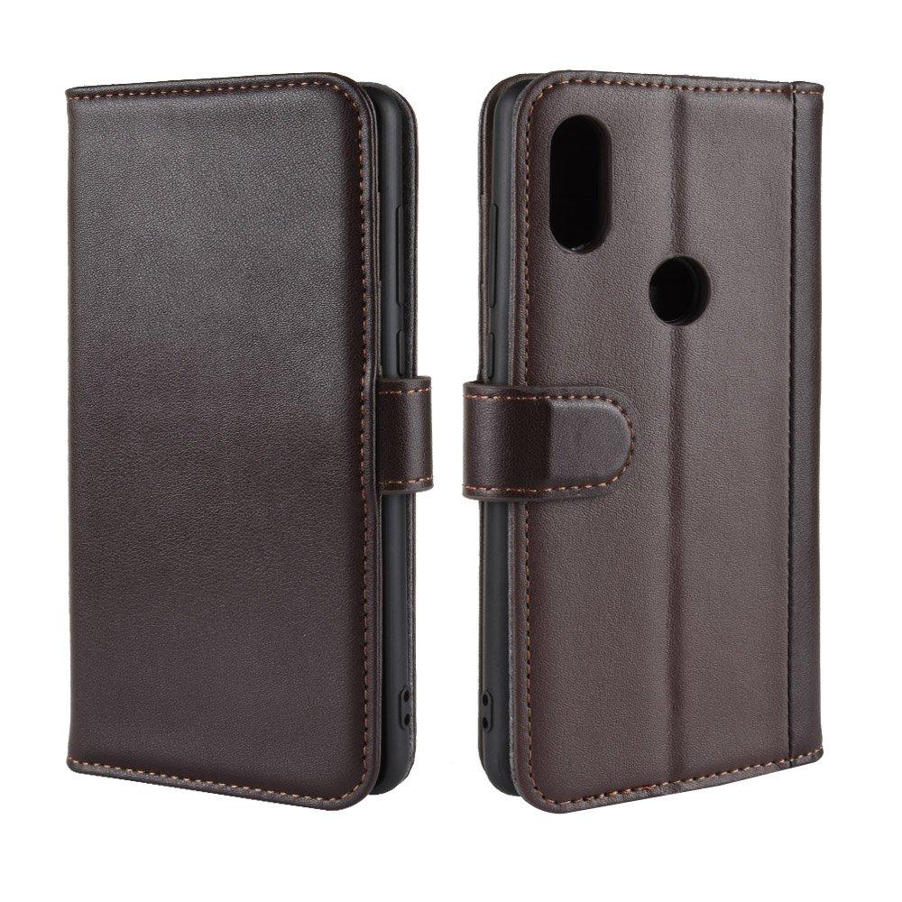 Scheam Xiaomi Mi Mix 2S Case, [Portable Wallet ] [ Slim Fit ] Heavy Duty Protective Accessories Flip Cover Wallet Case Compatible with Xiaomi Mi Mix 2S - Brown