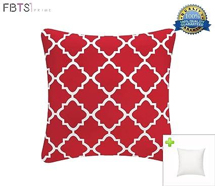 Amazon FBTS Prime Outdoor Decorative Pillows With Insert Red Unique Red Decorative Pillows For Bed