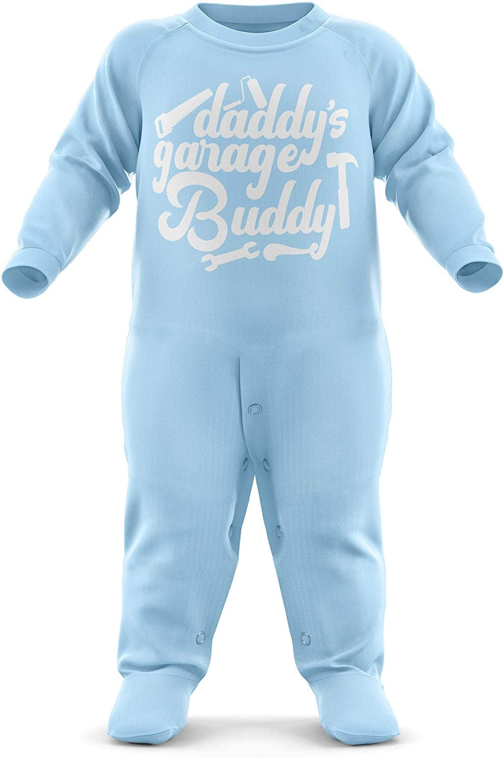 Funny Cool Baby Sleepsuit Daddys Garage Buddy Baby Romper Suit Babygrow Baby Newborn Gifts Father and Son//Daughter