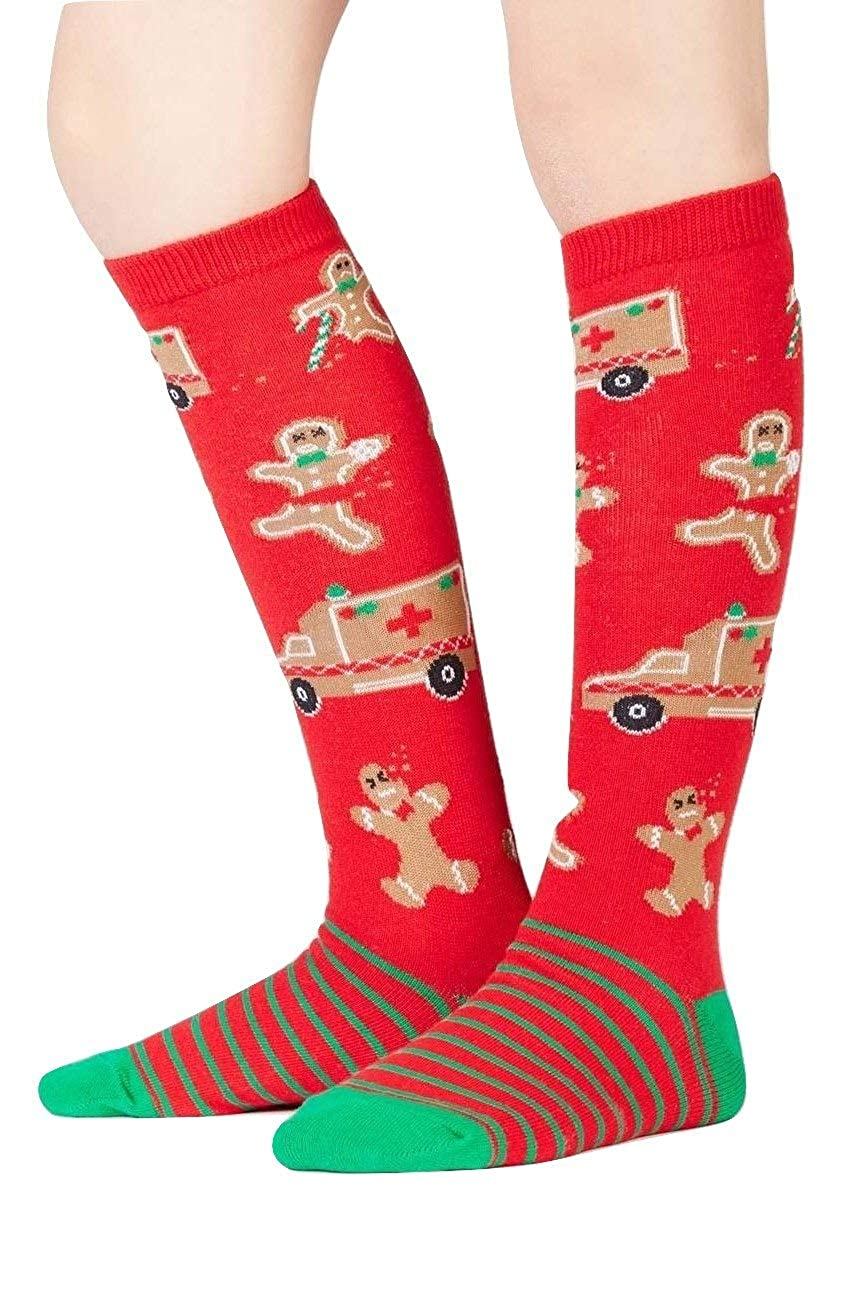 Sock It To Me Christmas Youth Boy Girl Knee High Fun Socks Ages 3-6 Break a Leg