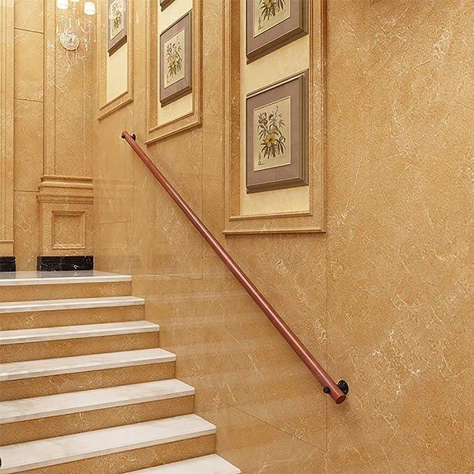 GCX-Grip Barandilla de Pasillo, barandilla de Escalera de altillo de Madera, barandilla Interior for Exteriores con Soportes de Hierro Forjado Kit Completo (Size : 80cm): Amazon.es: Hogar