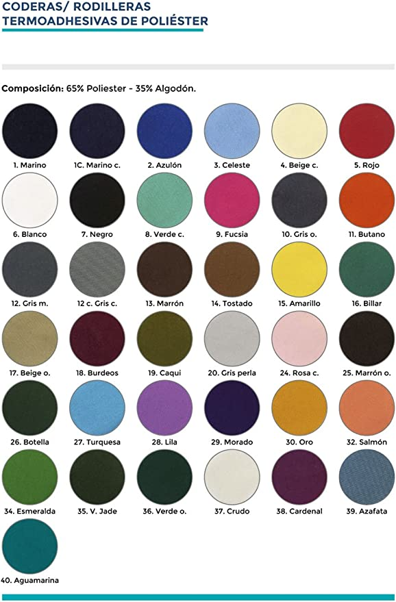 Haberdashery Online 6 rodilleras color Gris oscuro termoadhesivas ...