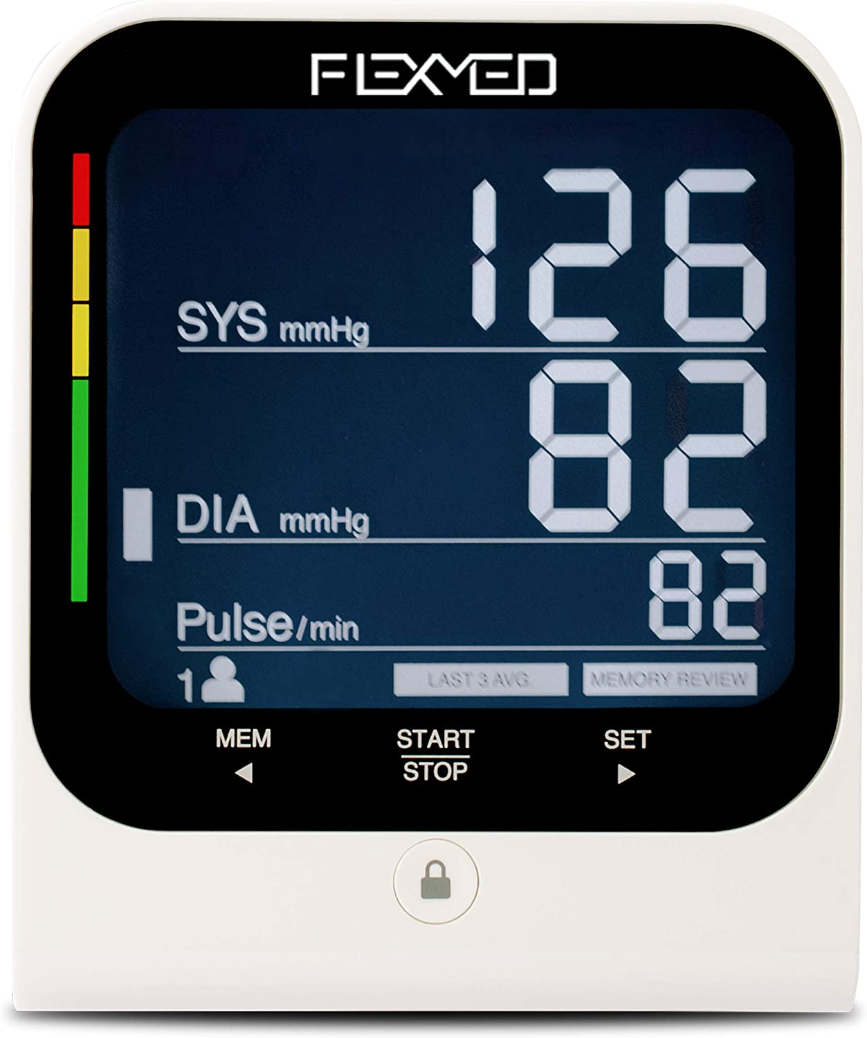 FLEXMED Automatic Digital Blood Pressure Monitor Upper Arm with Large Adjustable Wide Range Cuff High Accuracy Large LCD Back-lit Display 120 Memory FDA Approved and Batteries Included.