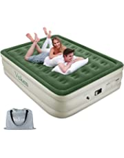"""Veken Queen Air Mattress with Built-in Pump, Inflatable 18"""" Elevated Airbed with Flocked Top, Best Air Mattress for Guests, Family, 2-Year Guarantee"""