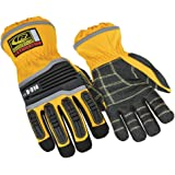 Ringers Gloves R-314 Extrication, Cut and Impact Protection, KevLoc Grip System, Yellow, Large