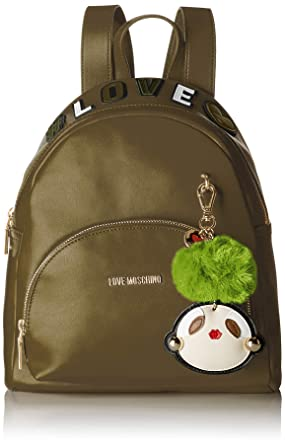 bd4be34aa2 Love Moschino Green Padded Leather Backpack: Handbags: Amazon.com