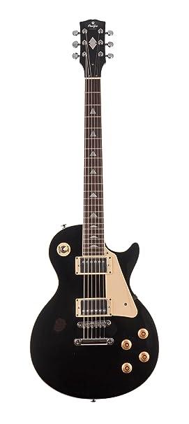 Guitarra eléctrica Prodipe de cuerpo sólido de 6 cuerdas (LP 300 BK BLACK)