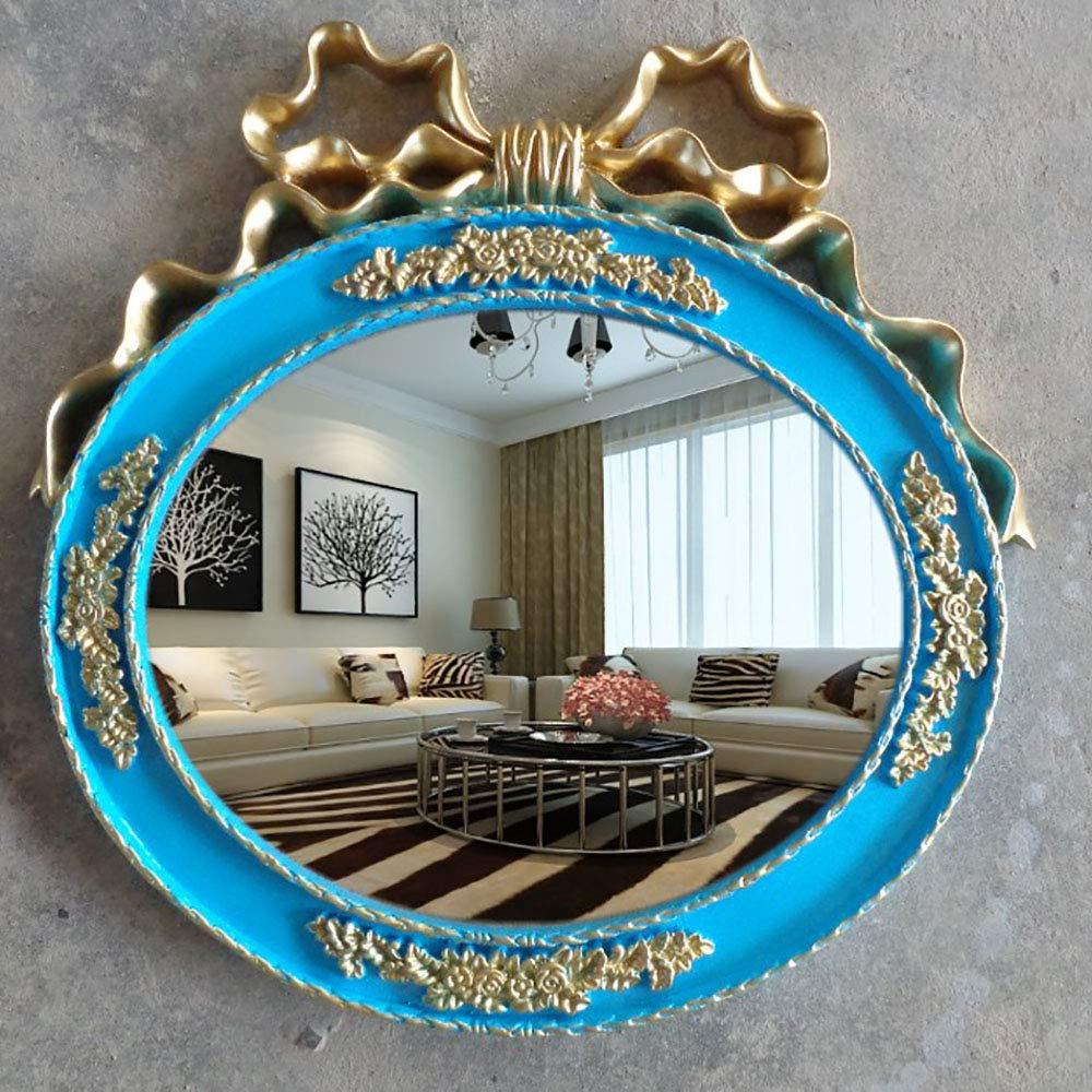 化粧鏡片面HDミラー壁掛けバスルーム化粧鏡  blue B07PYW4VWQ