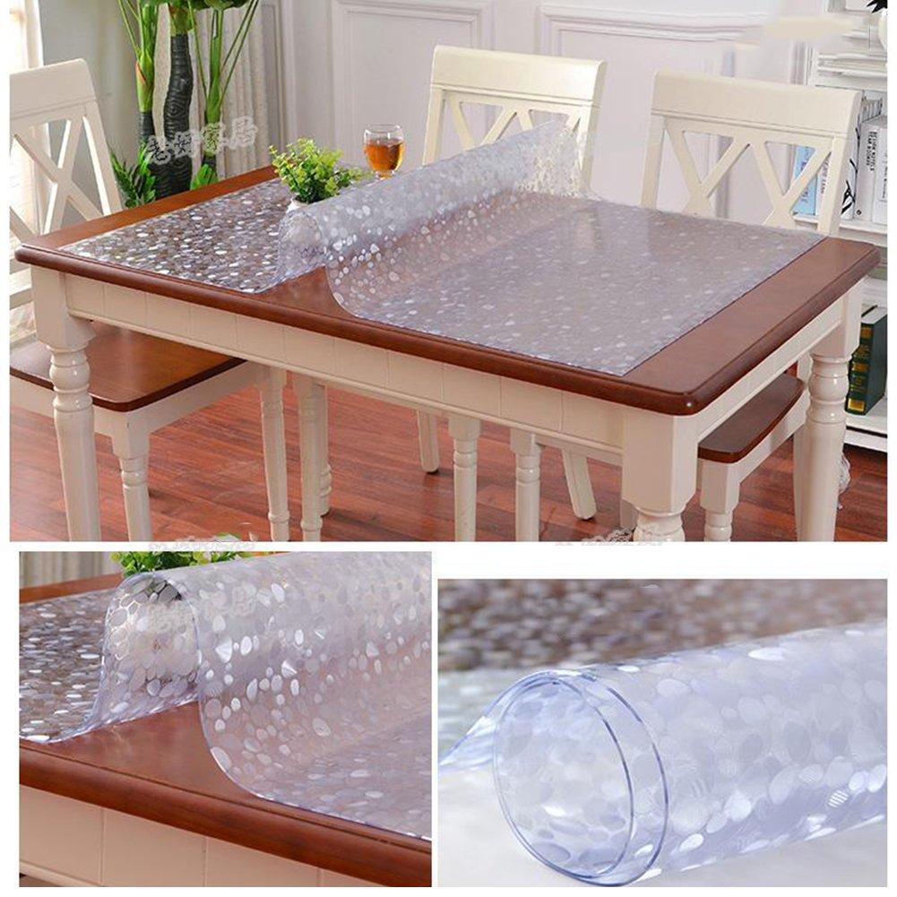 HM&DX Gefrostet Gefrostet Gefrostet Transparent Tischdecken Wasserdicht PVC Tabelle beschützer Abwaschbar Weiches Durchsichtige Tisch decken tuch Abdeckung für kaffee, wohnküche-Rosa 90x140cm(35x55inch) B07D9MBD3K Tischdecken e7d32b