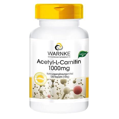 Acetil L Carnitina – 1000mg – 120 Cápsulas veganas