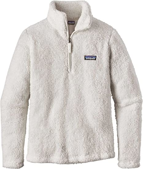 Patagonia Womens Los Gatos Quarter Zip Fleece Pullover (L, Birch White)