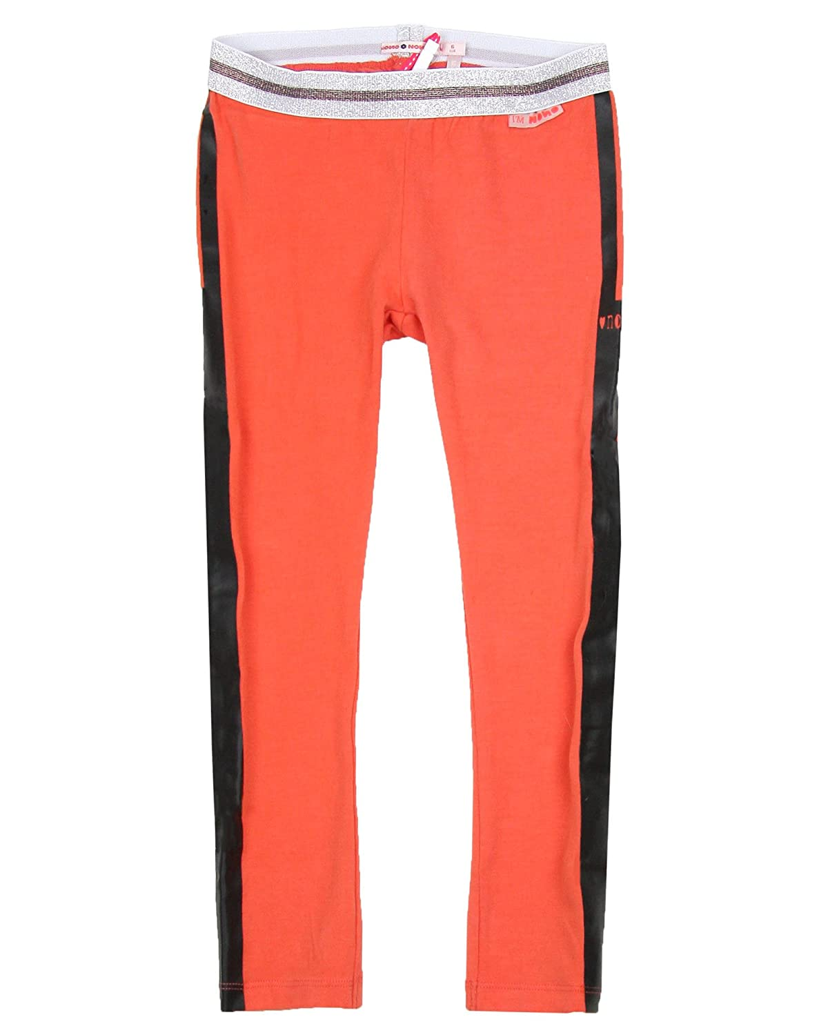 Nono Girls Leggings with Striped Coral Sizes 4-16