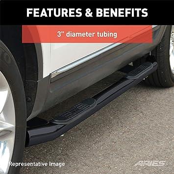 2pcs with Mounting Bracket Kit MaxMate Custom Fit 2006-2014 Honda Ridgeline Stainless Steel 3 Side Step Rails Nerf Bars Running Boards