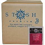 Stash Tea Christmas Morning Black and Green Tea Bags, 100 Count