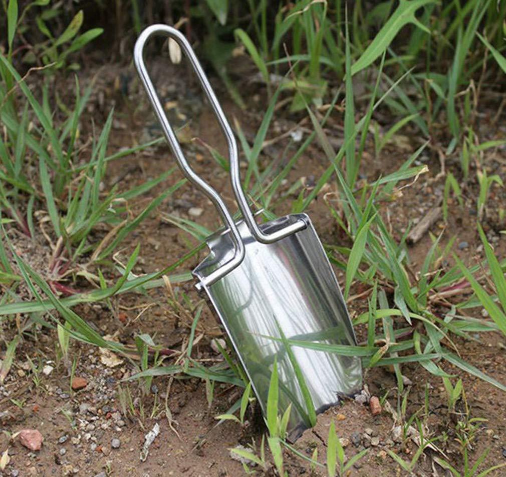Pelle de jardinage pliante en acier inoxydable de type petite pelle mobile mobile l/ég/ère creusant la trousse de jardinage outil de rangement noir avec /équipement de secours en voyage
