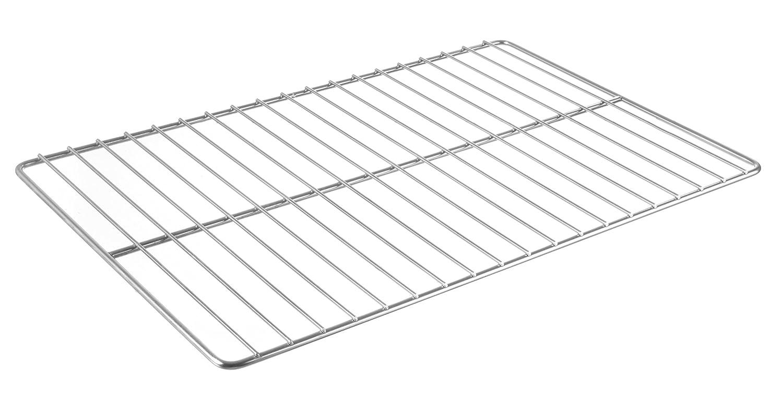 B/äckerei Rost geeignet zur Verwendung in /Öfen GN 1//1 querverstrebt 530x325mm horizontal Edelstahl HENDI Gastronormrost verchromt