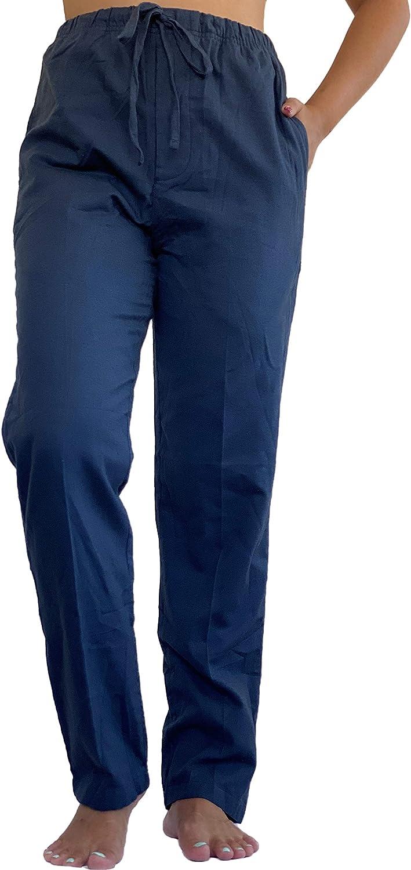 Pantalón de Pijama para Mujer 100% algodón Tejido Franela Casual y cómodo