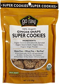 product image for Go Raw Freeland Super Cookies, Ginger Snaps, 3 oz Bags
