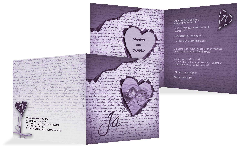 Hochzeit Einladung Einladung Einladung 2 Herzensgedicht, 10 Karten, TürkisGrauMatt B07HN5H9HP | Neues Design  | Um Sowohl Die Qualität Der Zähigkeit Und Härte  | Sonderangebot  bb45bb