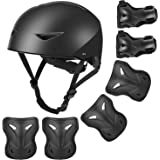 Kids Bike Helmet and Pads Set - Upgraded Protective Gear Set Knee and Elbow Pads Wrist Guards for 4~10yrs Girls Boys…