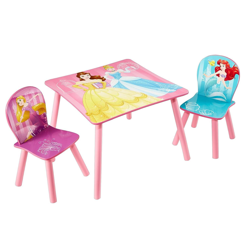 Worlds Apart Principesse Disney: Tavolino con Sgabelli, MDF/Legno,, 63 x 63 x 45 cm 527DNY