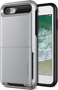 iPhone SE (2020) / 8 / 7 Case, VRS Design [Damda Folder] Card Wallet Case Waved Satin Silver