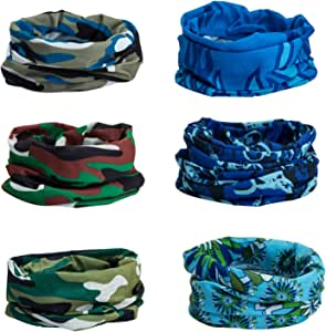 CICMOD 6PCS Headwear Outdoor Magic Headband Green CP9019usz