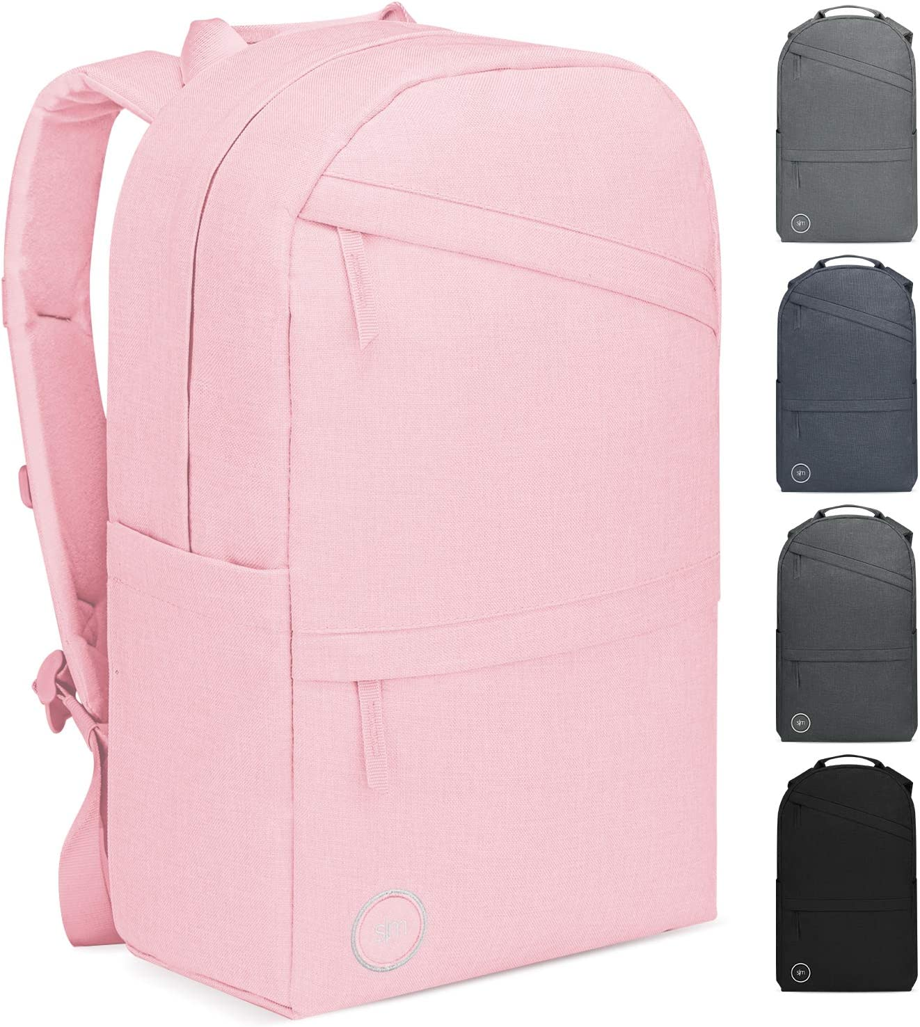 Simple Modern Legacy Backpack with Laptop Compartment Sleeve - 15L Travel Bag for Men & Women College Work School -Blush
