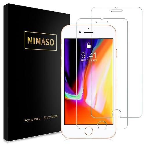 【2枚セット】Nimaso iPhone8/iPhone7 用 強化ガラス液晶保護フィルム