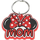 Disney Family Mom Minnie Mouse Bow Keychain Keyring