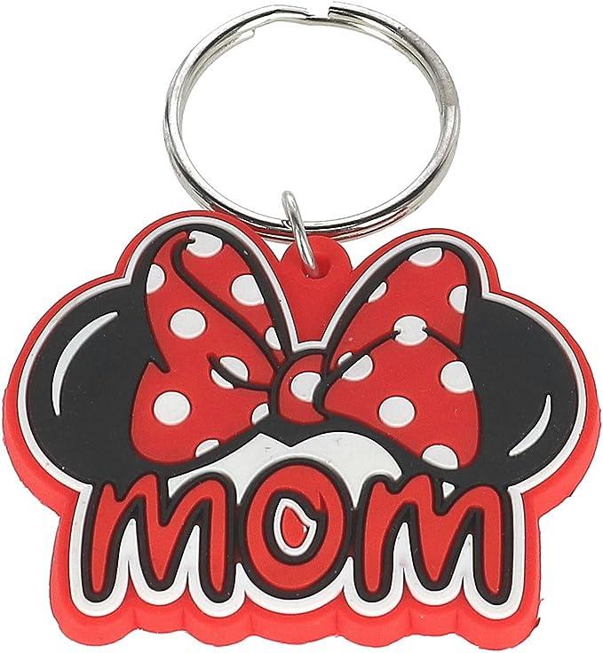 Amazon.com: Disney familia mamá Minnie Mouse lazo llavero ...