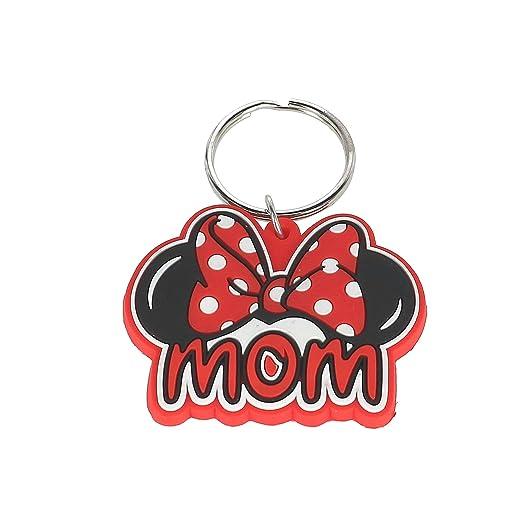 Amazon.com  Disney Family Mom Minnie Mouse Bow Keychain Keyring ... 795b0d8ed125