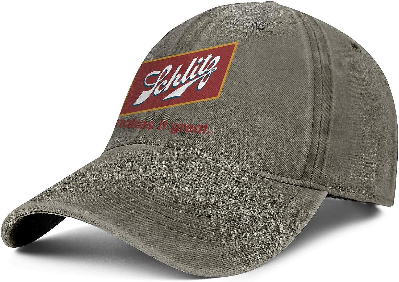 HQWT Unisex Cotton Washed Cowboy Hat Schlitz-Beer-Malt-Liquor- Adjusted Snapback Cool Cap 71m8AY2SWBL