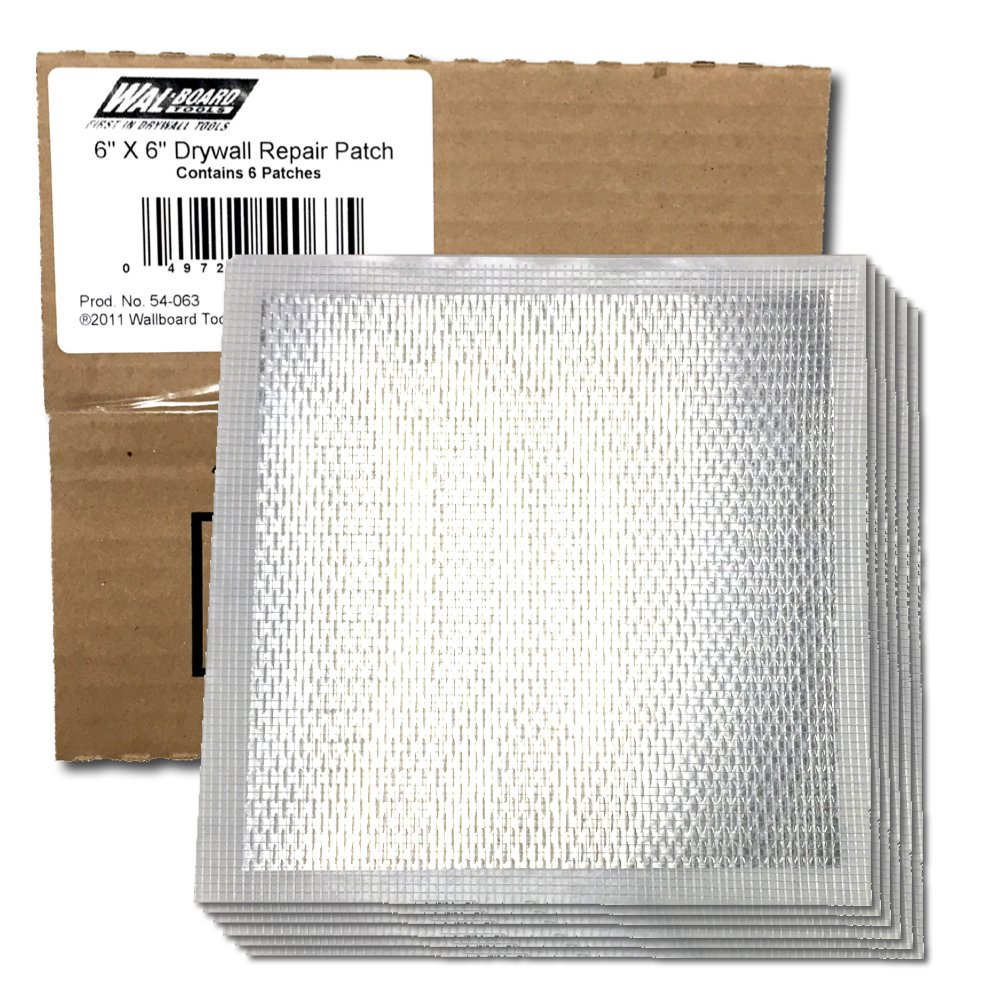 Wal-Board 6'' x 6'' Drywall Repair Patch - Aluminum and Self-Stick Mesh (6-Pack)