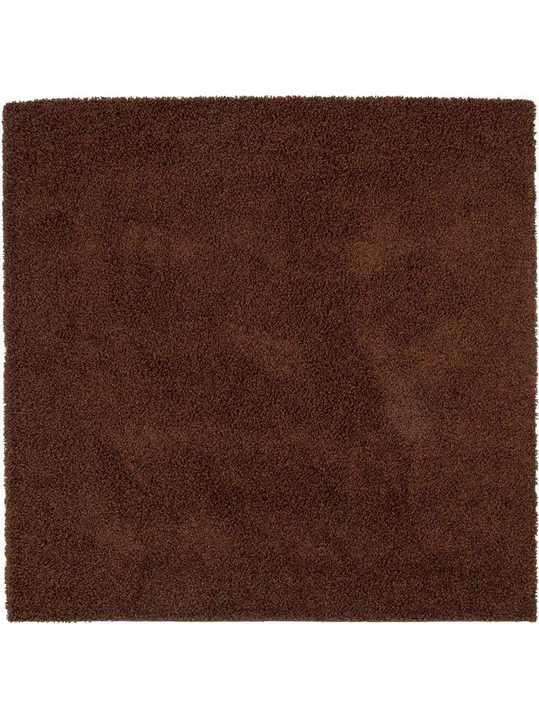 Benuta Hochflorteppich Swirls Shaggy Langflor Braun 160x160 cm Kunstfaser schadstofffrei