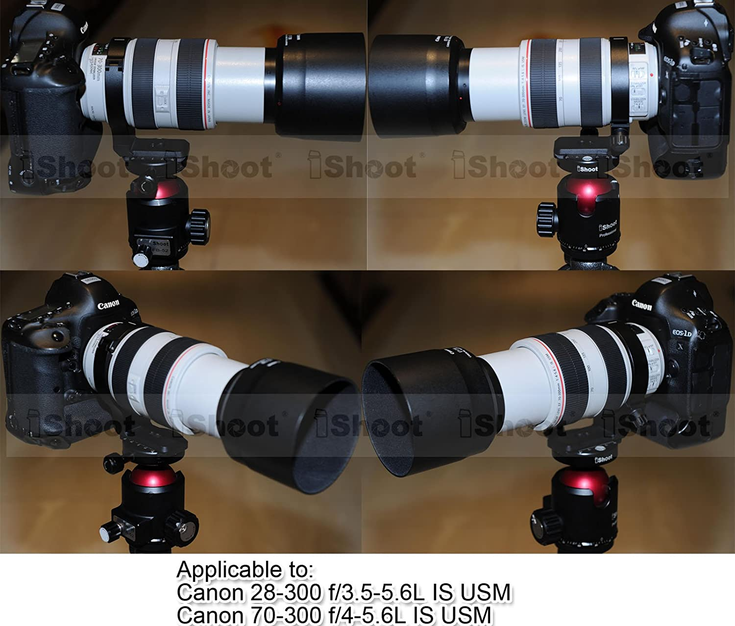 Canon EF 70-300mm f//4-5.6L IS USM iShoot Latest Metal Lens Support Collar Tripod Mount Ring for Canon EF 28-300mm f//3.5-5.6L IS USM Bottom is Camera Quick Release Plate