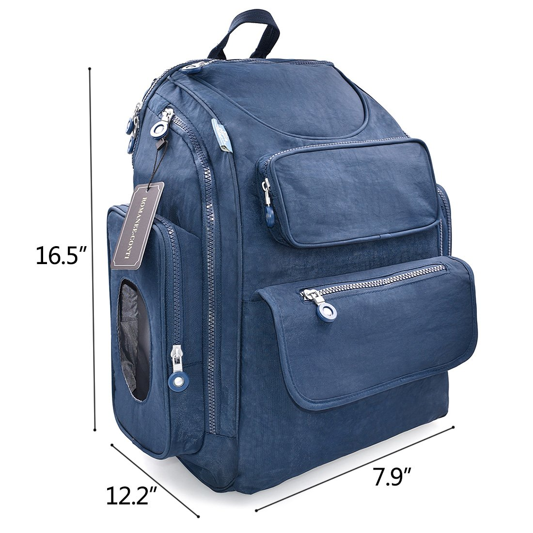 07877eaf6cf6b Amazon.com : Diaper Bag Backpack Baby Changing Pad Lightweight Large Nappy  Travel Backpack Premium Oxford with Stroller Straps for Both Mom & Dad Blue  : ...