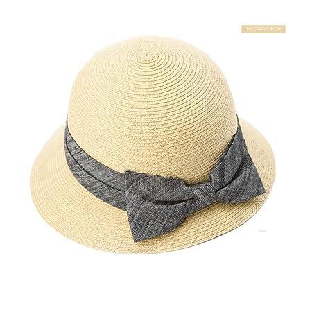 ff34647947f690 GUO-straw hat female summer small fresh beach hat anti-ultraviolet folding  folding sun